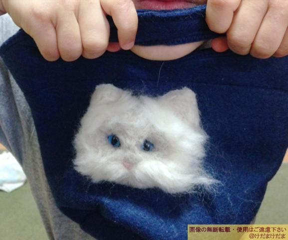 羊毛フェルトでバッグに飾り(?)をつけてみたら可愛い♪【過去作品】