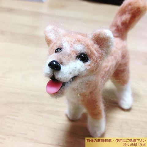 羊毛フェルト作品「犬」【過去作品】